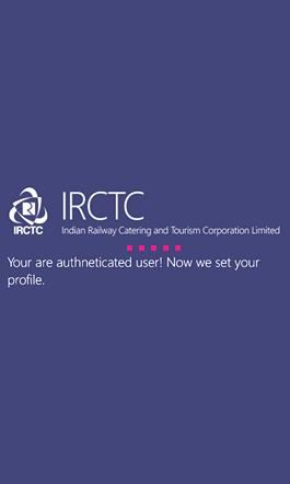 IRCTC Mobile App Splash Screen 2
