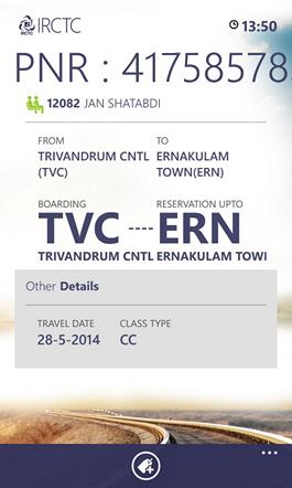 PNR Check Details