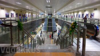 Entry from Concourse to platform bangalore metro underground station photo